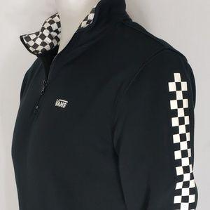 Van's Mens Black 1/4 Zip Sweater Size Small